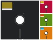 Floppy disk. Color vintage floppy disk for computers Stock Image