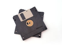 Floppy disk. On an isolated white background stock photography