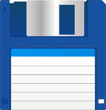 Floppy Disk. Blue Floppy Disk With Blank Label Royalty Free Stock Images
