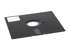 Floppy Disk. An obsolete 5.25 inch floppy disk royalty free stock image