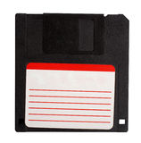 Floppy disk. With blank label isolated over white background royalty free stock photography