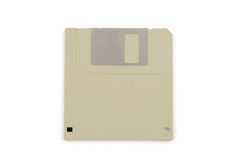 Floppy disk. Old 3 1/2-Inch floppy disk isolated on white Royalty Free Stock Images