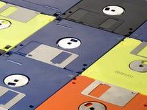 Floppy disk. Multicoloured floppy disk Stock Photo