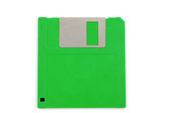 Floppy disk. Of old 3 1/2-Inch floppy disk isolated on white Stock Photo