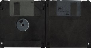 Floppy disk. Front and retro floppy disk Stock Image