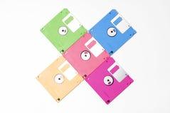 Floppy disk. Multicoloured floppy disk on white background Stock Image