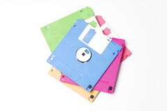 Floppy disk. Multicoloured floppy disk on white background Stock Photos