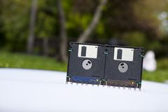 Floppy disk box Stock Images