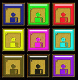 Floppy disk buttons Stock Images