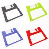 Floppy disk colorato Immagini Stock