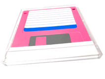 Floppy disk in a cover box Royalty Free Stock Photos