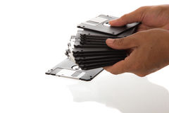 3 5' floppy disk di pollice Fotografia Stock Libera da Diritti