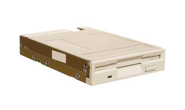 Floppy disk drive. Isolated over white Royalty Free Stock Photography