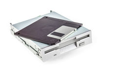 Floppy disk drive and diskette Royalty Free Stock Image