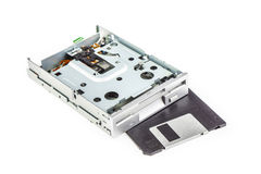 Floppy disk drive and diskette 01 Stock Photography