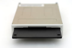 Floppy disk and drive on white background Royalty Free Stock Image