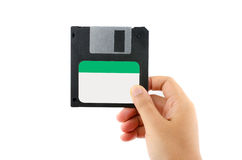 Floppy disk  in Female Hand Stock Photo
