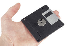 Floppy disk on hand Stock Photography
