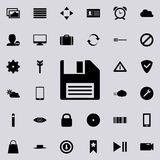 Floppy Disk icon. Detailed set of minimalistic icons. Premium graphic design. One of the collection icons for websites, web design. Mobile app on colored Royalty Free Stock Photos