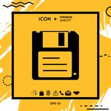 Floppy disk icon. Element for your design Royalty Free Stock Photo