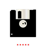 Floppy disk it is icon . Floppy disk  it is icon . Flat style Royalty Free Stock Image