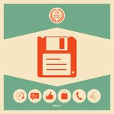 Floppy disk icon. Signs and symbols - graphic elements for your design Royalty Free Stock Image