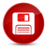 Floppy disk icon elegant red round button. Floppy disk icon isolated on elegant red round button abstract illustration Stock Photo