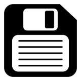 Floppy disk icon. Isolated on white Royalty Free Stock Image