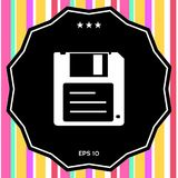 Floppy disk icon. Signs and symbols - graphic elements for your design Stock Photography
