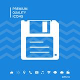 Floppy disk icon. Signs and symbols - graphic elements for your design Stock Image