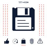 Floppy disk icon. Signs and symbols - graphic elements for your design Stock Photos