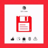 Floppy disk icon. Signs and symbols - graphic elements for your design Stock Photo