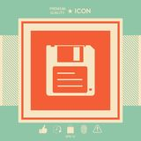 Floppy disk icon. Signs and symbols - graphic elements for your design Stock Images