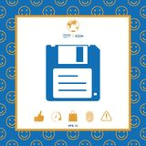 Floppy disk icon. Signs and symbols - graphic elements for your design Royalty Free Stock Photos