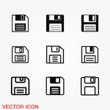 Floppy disk icon. Vector pictogram illustration on background Stock Photography
