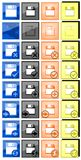Floppy disk icons. Image repesenting a set of colorful isolated floppy disks icons royalty free illustration