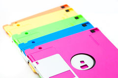 Floppy disk. The isolate colorful floppy disks Stock Photo