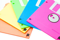 Floppy disk. The isolate colorful floppy disks Stock Photos