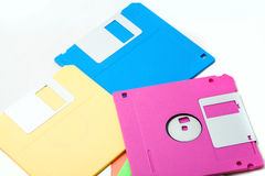 Floppy disk. The isolate colorful floppy disks Royalty Free Stock Images