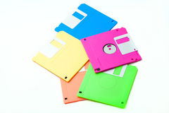 Floppy disk. The isolate colorful floppy disks Royalty Free Stock Photos