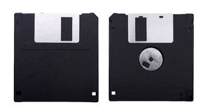 Floppy disk isolated on white Stock Photos