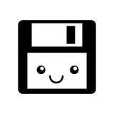 Floppy disk kawaii character. Vector illustration design Stock Images