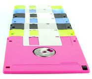 Floppy disk magnetic computer data storage. Support isolated over white background Stock Image