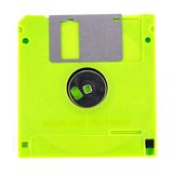 Floppy disk. Magnetic computer data storage support isolated over white background Royalty Free Stock Images
