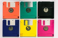 Floppy Disk magnetic computer data storage support stock photography