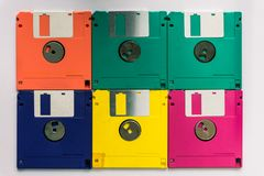 Floppy Disk magnetic computer data storage support royalty free stock images