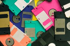Floppy Disk magnetic computer data storage support royalty free stock photography
