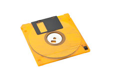 Floppy Disk Orange Royalty Free Stock Photos