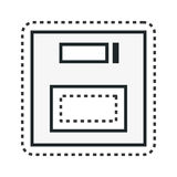 Floppy disk retro isolated icon Stock Image