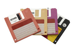Floppy Disk. Stack Of floppy disck in various colors royalty free stock image
